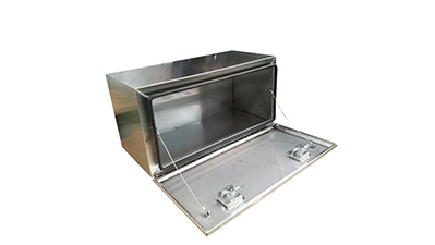 Small aluminum tool box